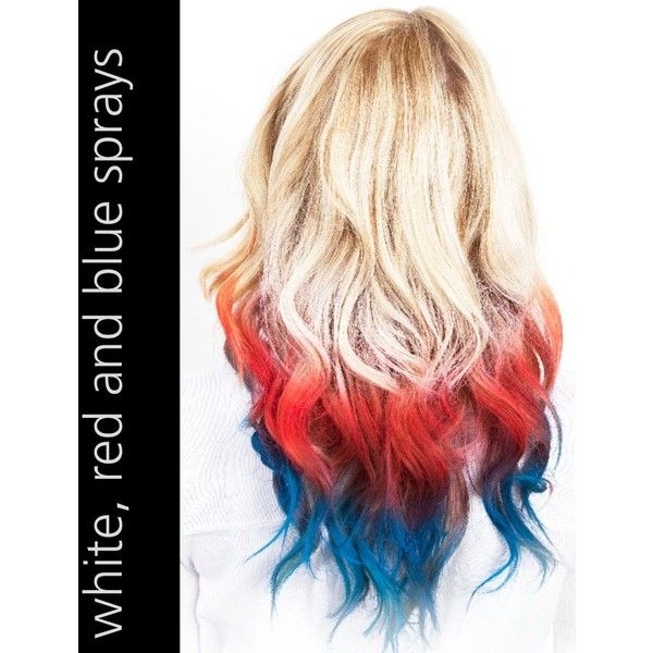 Color Xtreme Hair Art Color Spray In Blue Red White Hair Art