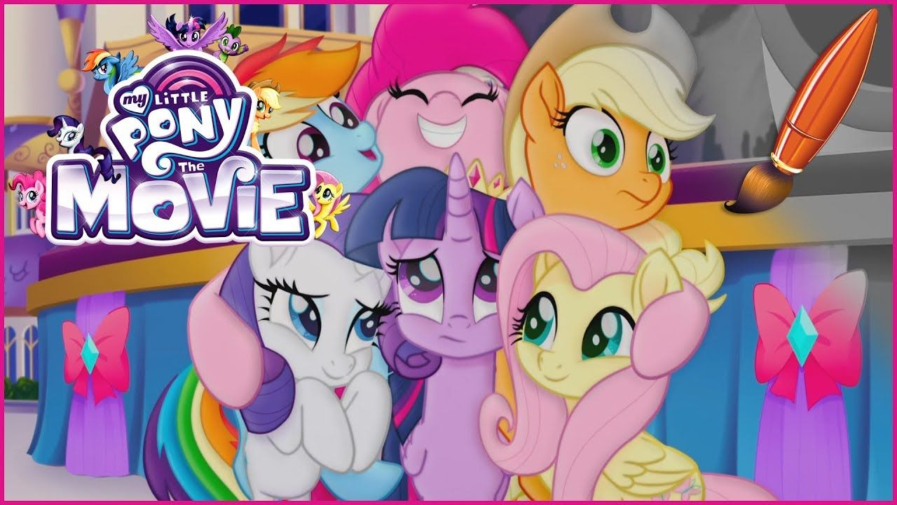 Coloring My Little Pony The Movie With Princess Twilight Sparkle Pinkie My Little Pony Coloring Princess Twilight Sparkle Twilight Sparkle