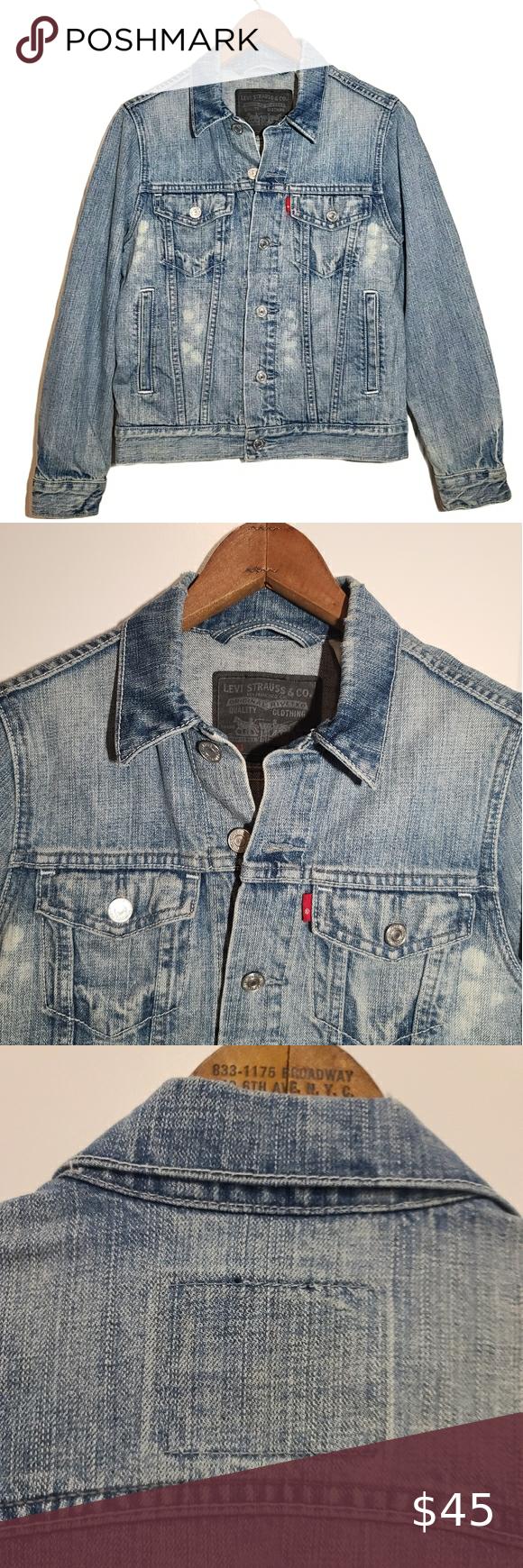 Levi S Jean Jacket 57511 Denim Trucker Size M Light Denim Jacket Light Wash Denim Jacket Denim Jacket Women [ 1740 x 580 Pixel ]