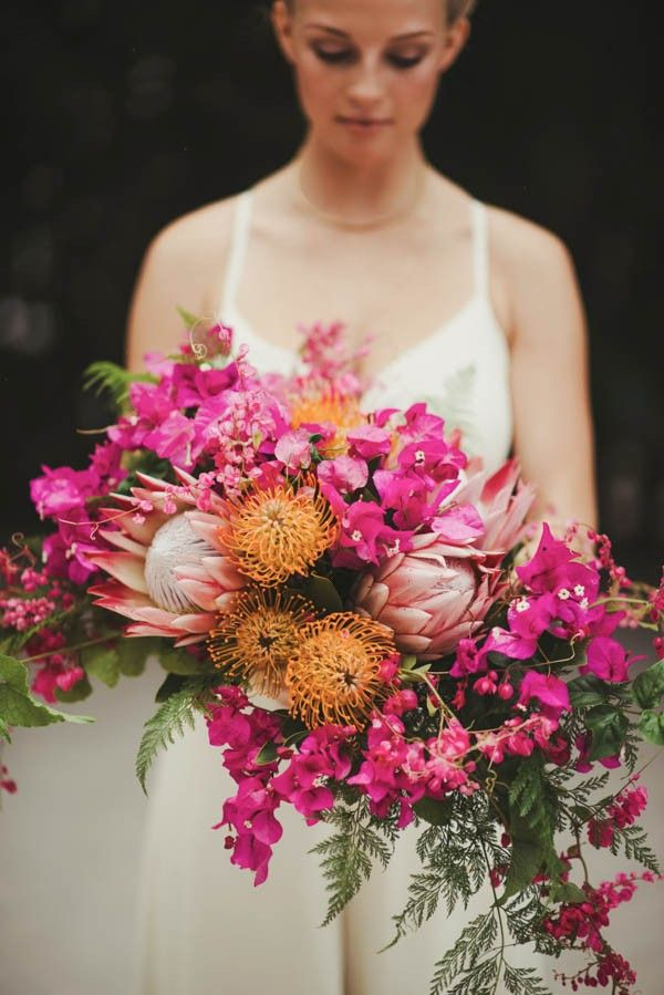Stunning pink bridal bouquet | June Photography
