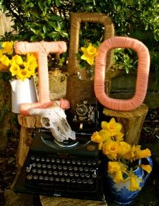 DIY Tutorial: Twine Wrapped Letters