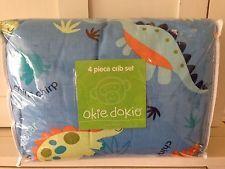 New Okie Dokie Dino 4 Piece Crib Bedding Set
