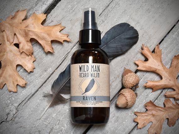 Beard Wash Soap Wild Man RAVEN Beard Grooming Shampoo