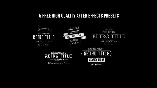 Free After Effects Templates: Title and Logo Effects | film