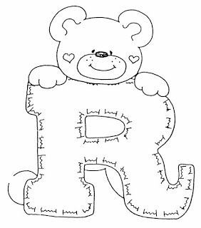 teddy bear alphabet, alphabet bear teddy | buchstaben vorlagen, buchstaben schablone