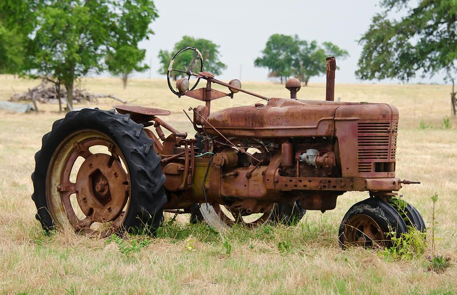 Vintage Farms Tractors For Sales : An old rusty tractor prints can be purchased at fine art