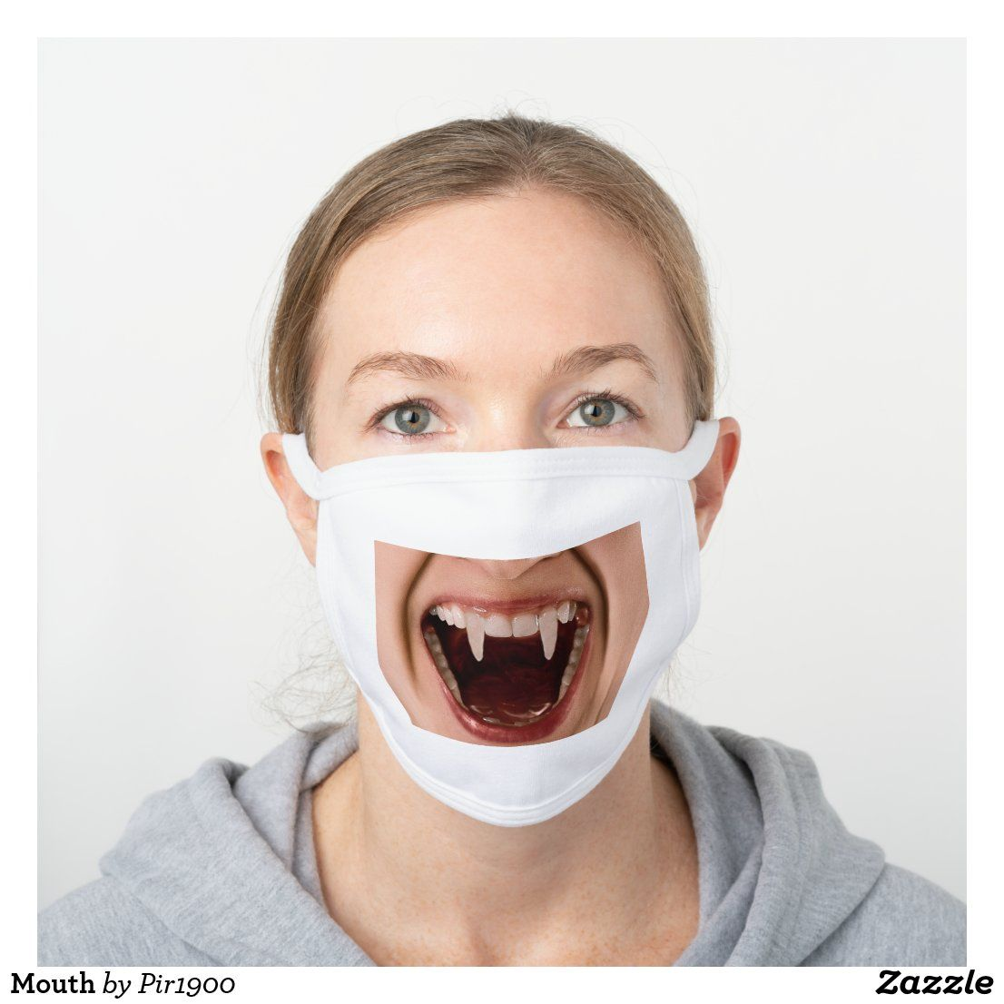 Mouth White Cotton Face Mask Zazzle Com Funny Face Mask Smile Teeth Funny Lips
