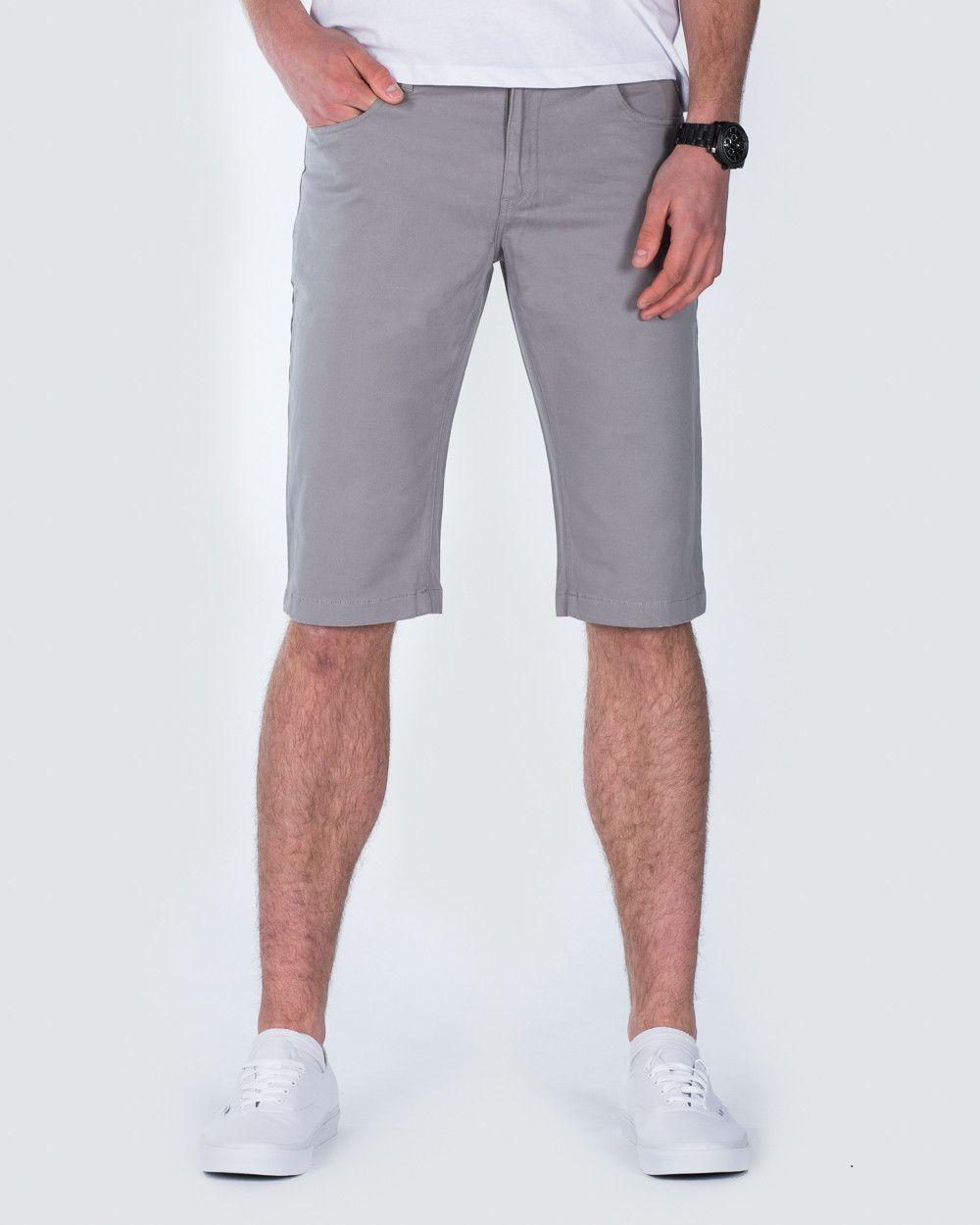 Ed baxter jay slim fit chino shorts grey tall chino for Extra tall dress shirts