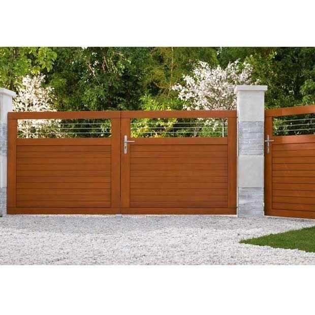 Portail battant Bois Fontaine - Gamme Confort - Les portails - portail de maison en fer