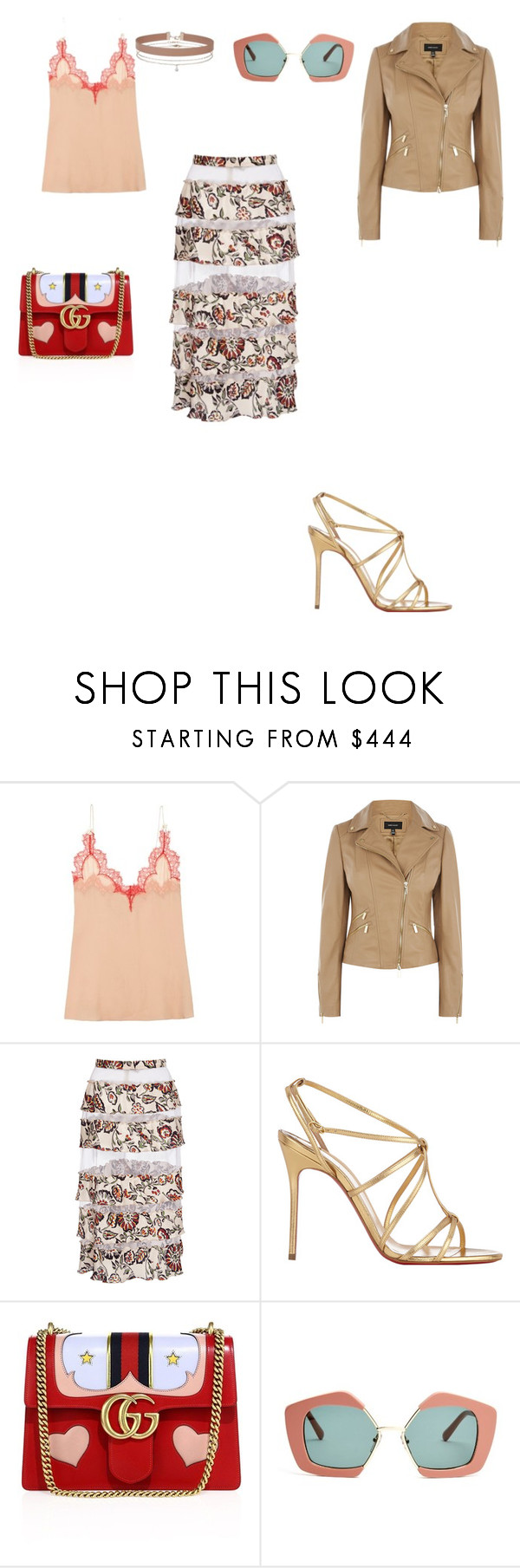 """Untitled #3222"" by anamaria-zgimbau ❤ liked on Polyvore featuring Gucci, Rodarte, Christian Louboutin, Marni and Miss Selfridge"