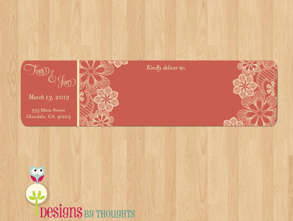 how to return address wedding envelopes%0A Vintage Lace Wrap Around Address Labels  Perfect for your wedding invites   when you want something UNIQUE and CREATIVE
