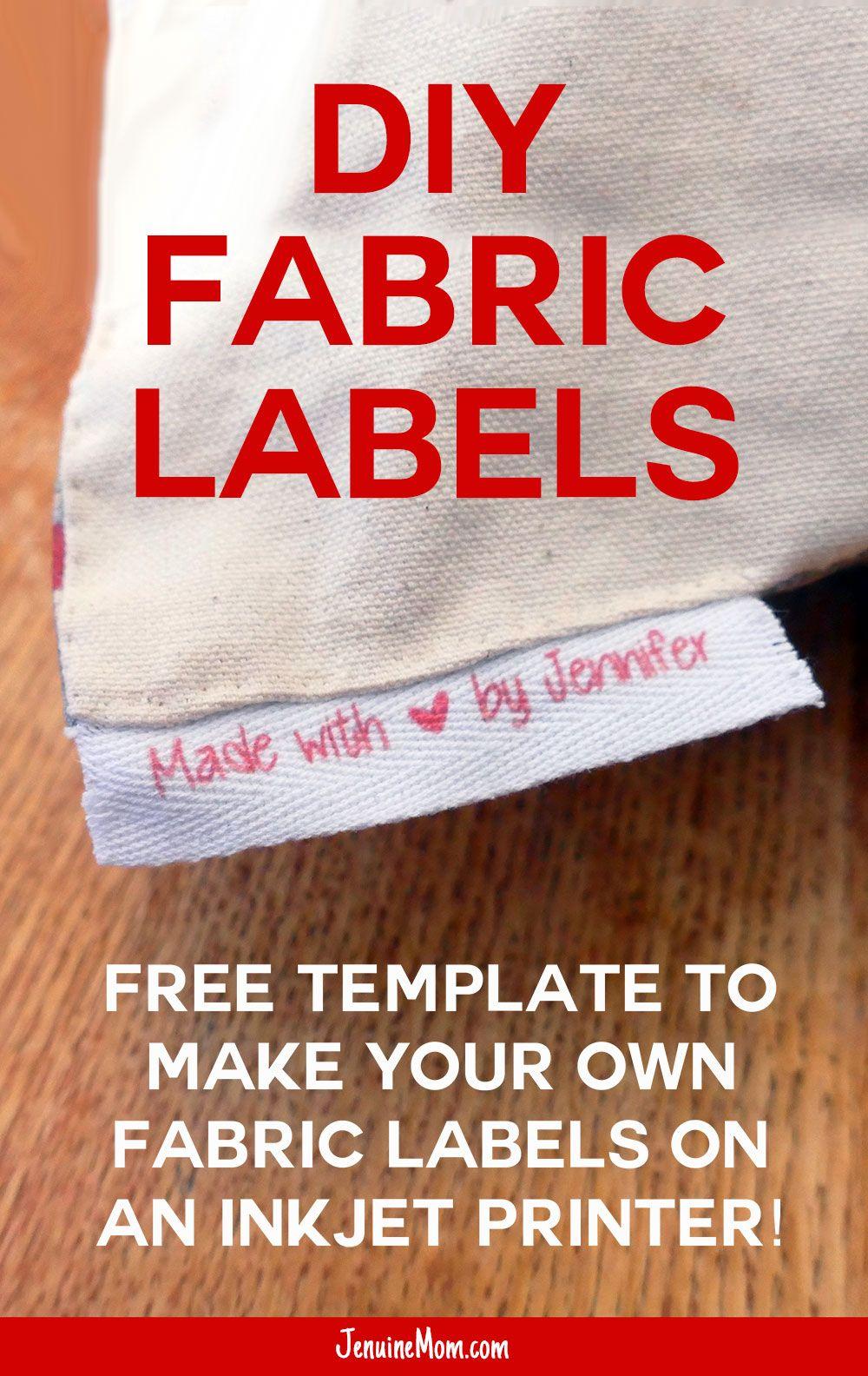 Diy Fabric Labels On Twill Tape Jennifer Maker Sewing Labels Diy Fabric Fabric Labels