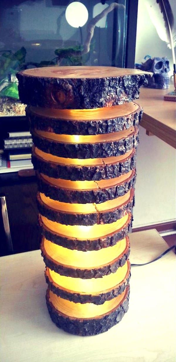 Old Log Becomes Gorgeous Floating Wood Lamp Wooden Diy