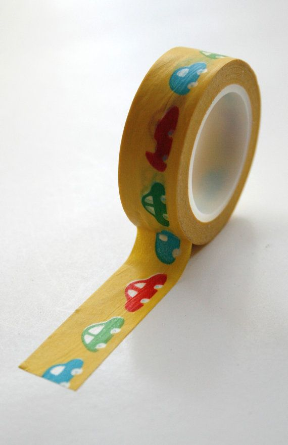 Washi Tape 15mm Cute Car Designs On Yellow Deco Paper Etsy Washi Tape Crafts Washi Tape Projects Paper Tape