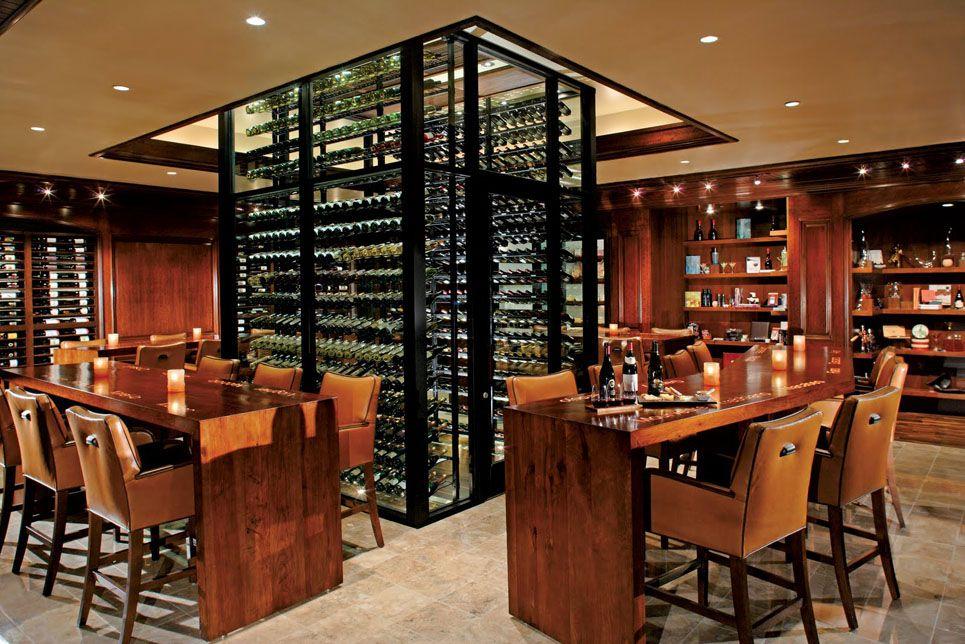 Kollin altomare architects enosteak at the ritz carlton for Custom wine bar