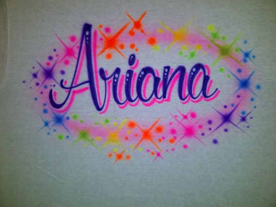 bb76053f Personalized Airbrushed Custom Shirt In Ranibow Colors With Your Name  Airbrush size S M L XL 2X T-Shirt via Etsy
