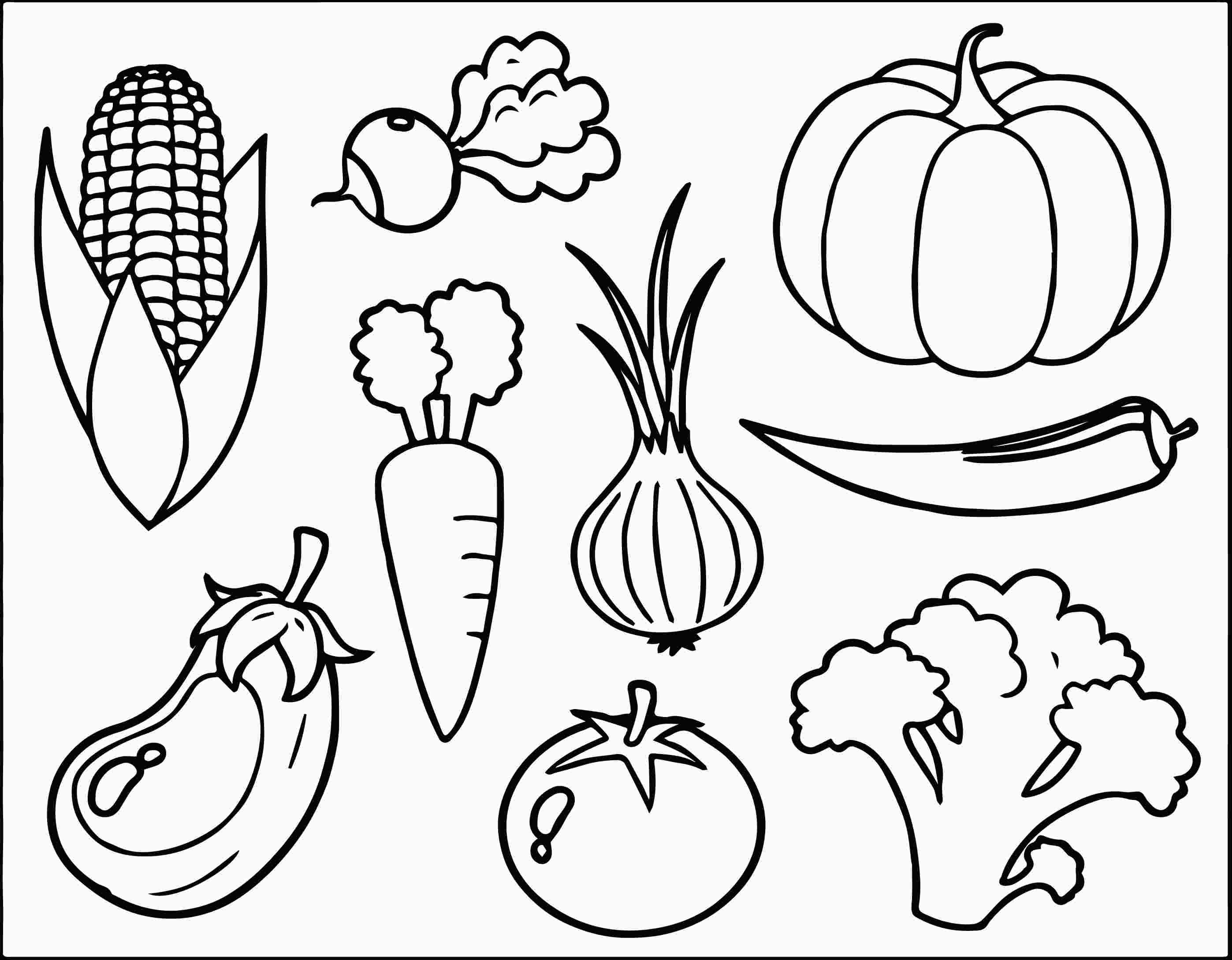 Free Vegetable Coloring Pages With Images