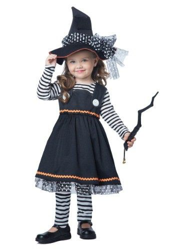 dd1924d60 This charming witch costume will draw all eyes on the lucky one wearing it.  From our Halloween Costumes range.