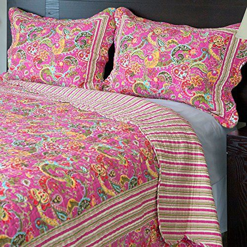 Bedford Home 2-Piece Paisley Quilt Set, Twin Bedford Home http://www.amazon.com/dp/B00LJV1WD8/ref=cm_sw_r_pi_dp_IjDWtb1SP5WKJG0V
