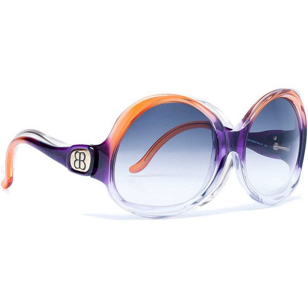 2a14346651 Balenciaga Sunglasses Bal 0003 Orange found on Polyvore