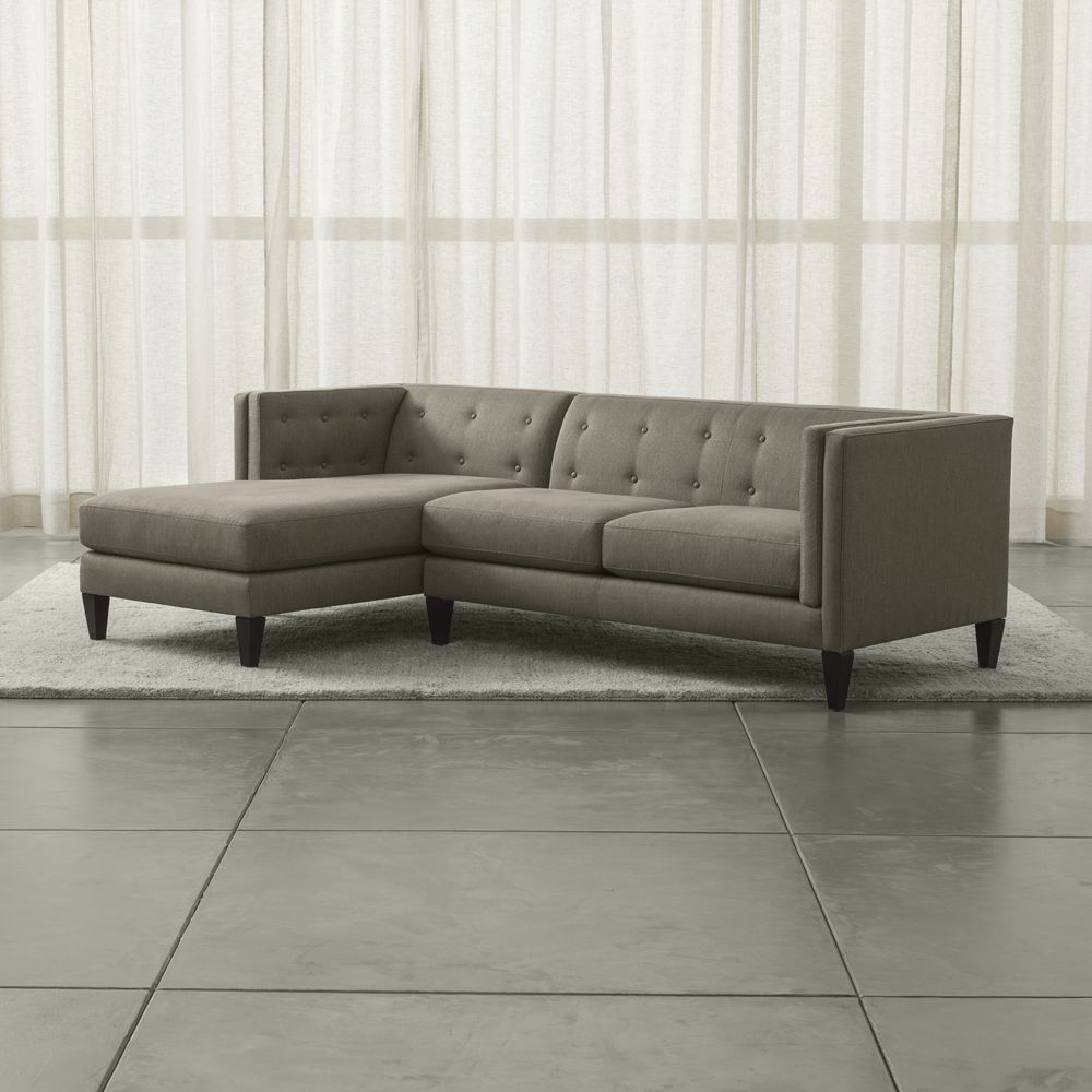 Aidan 2-Piece Left Arm Chaise Tufted Sectional Sofa