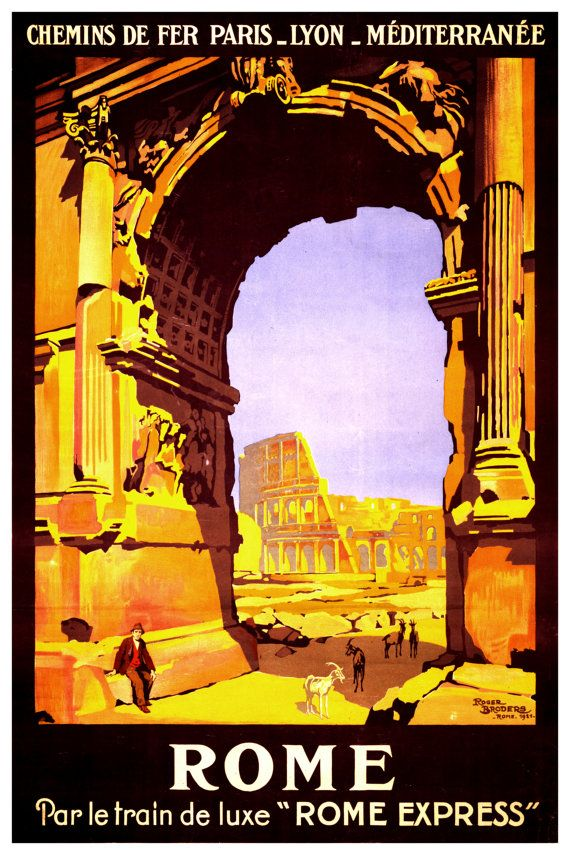 Rome Travel Poster Rome Art Rome Wall Art Rome Poster Rome Etsy Vintage Travel Posters Travel Posters Travel Art