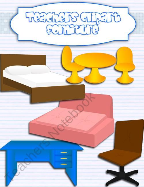 furniture clipart realistic product from teacher s clip art on rh pinterest com