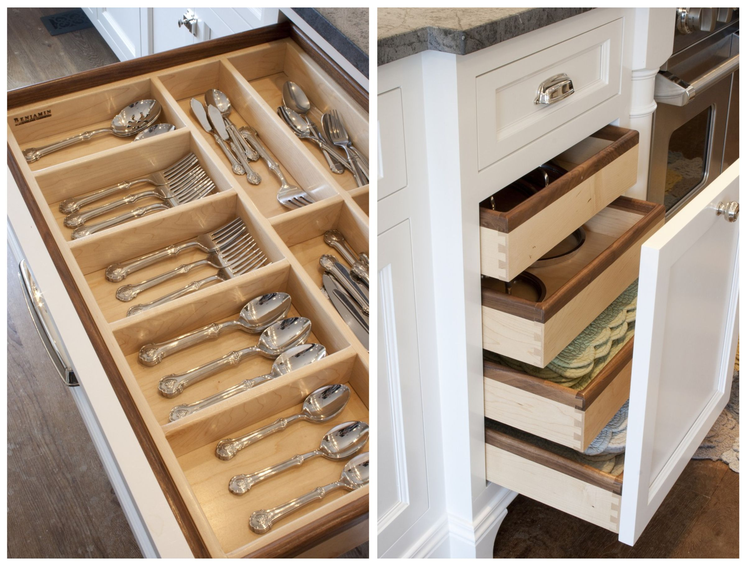 Tin bread box drawer insert - I Want These Drawers