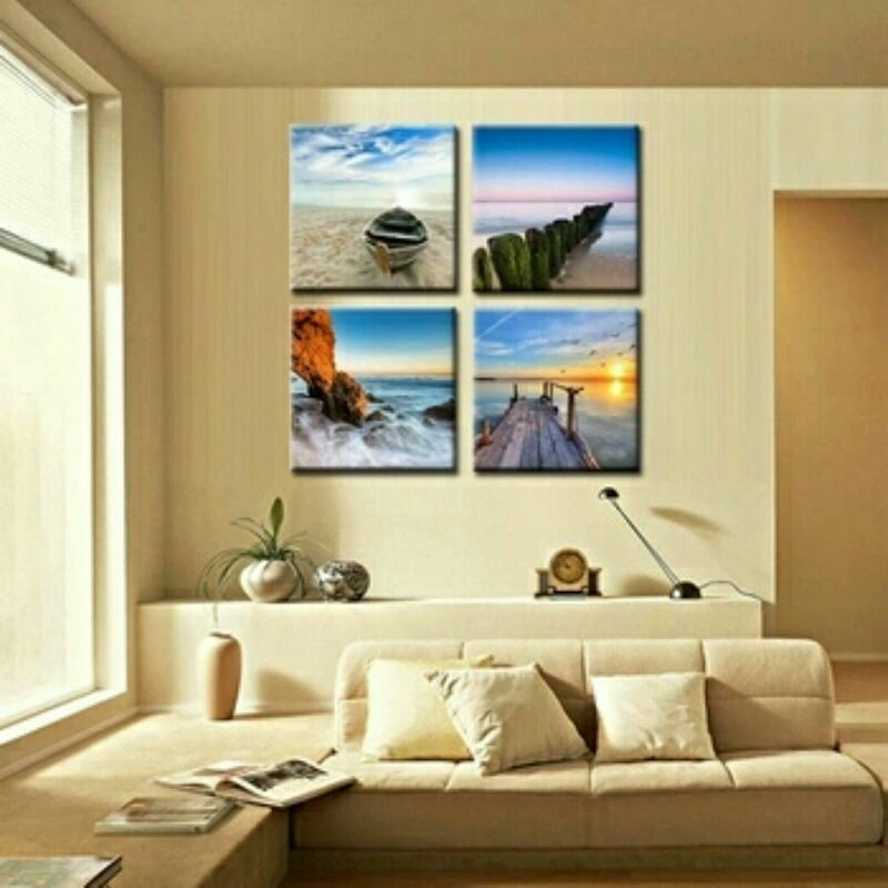 Beach Tranquillity 4 Piece Wall Art Set on Canvas **WORLDWIDE ...