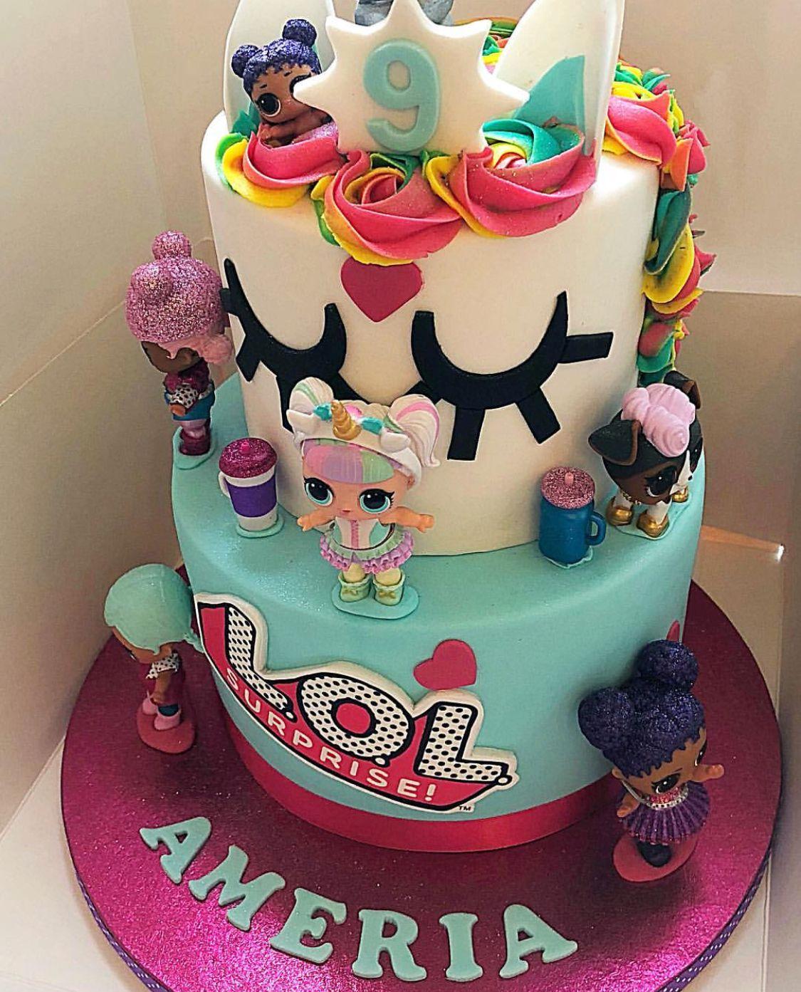 Unicorn Amp Lol Surprise Dolls Birthday Cake