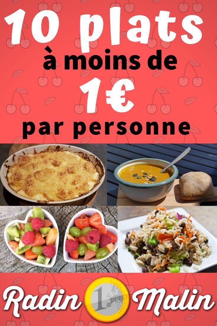 Idée Repas 10 Personnes 8 idées repas à moins de 1€ par personne   RAPIDE, FACILE et PAS
