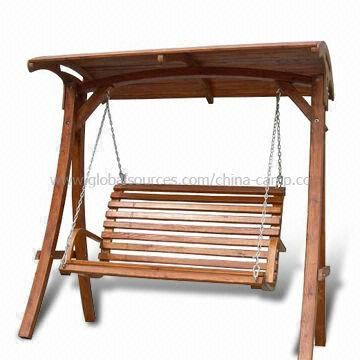 Deluxe Wooden Frame Swing Chair, Available with Canopy | Outdoor ...
