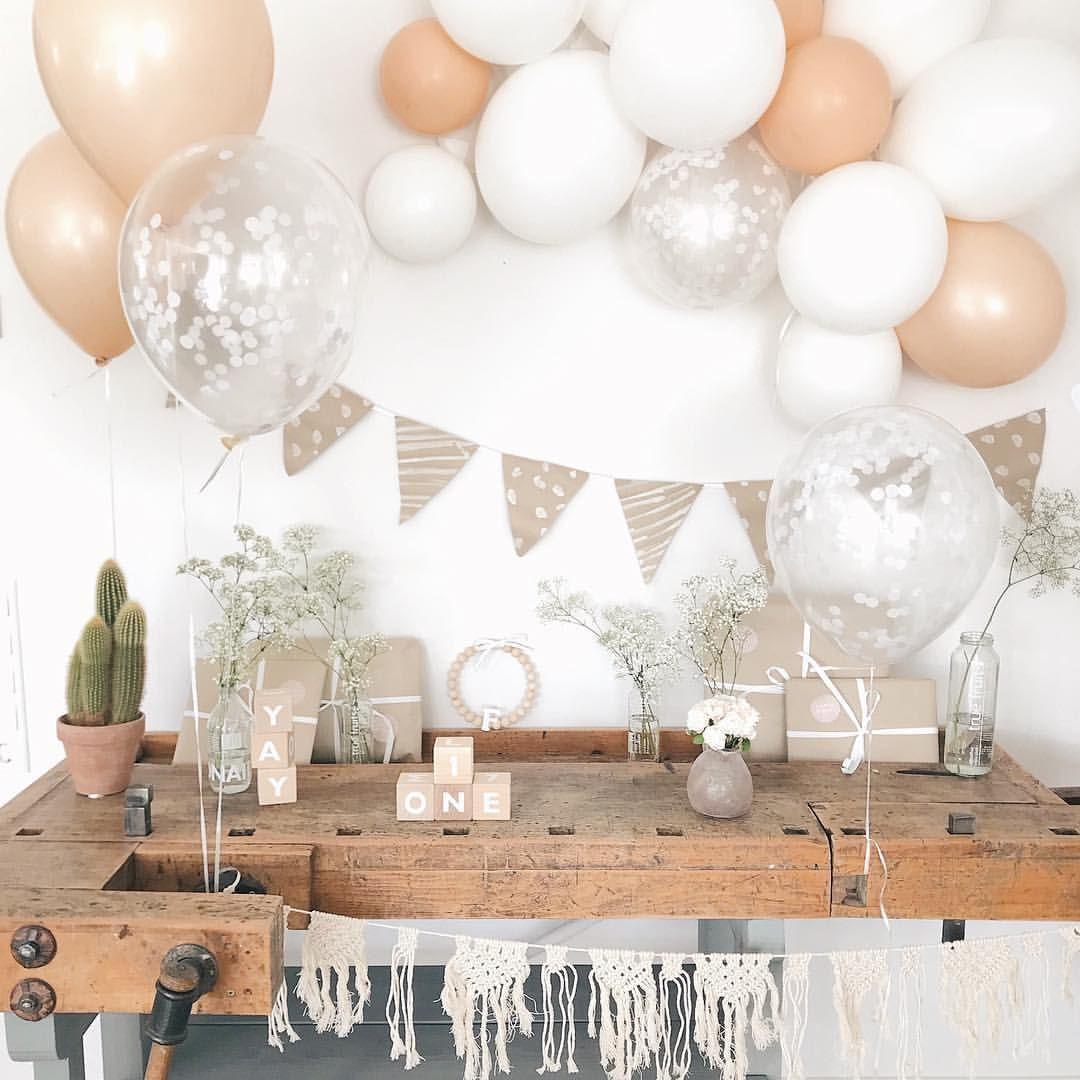 Kindergeburtstag Baby Party Geburtstag Idee Deko Dekoration Ballons