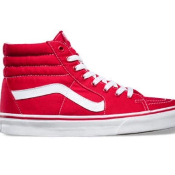 baf1fc3c367e NWT RED SK8 HI VANS Never worn brand new with tags