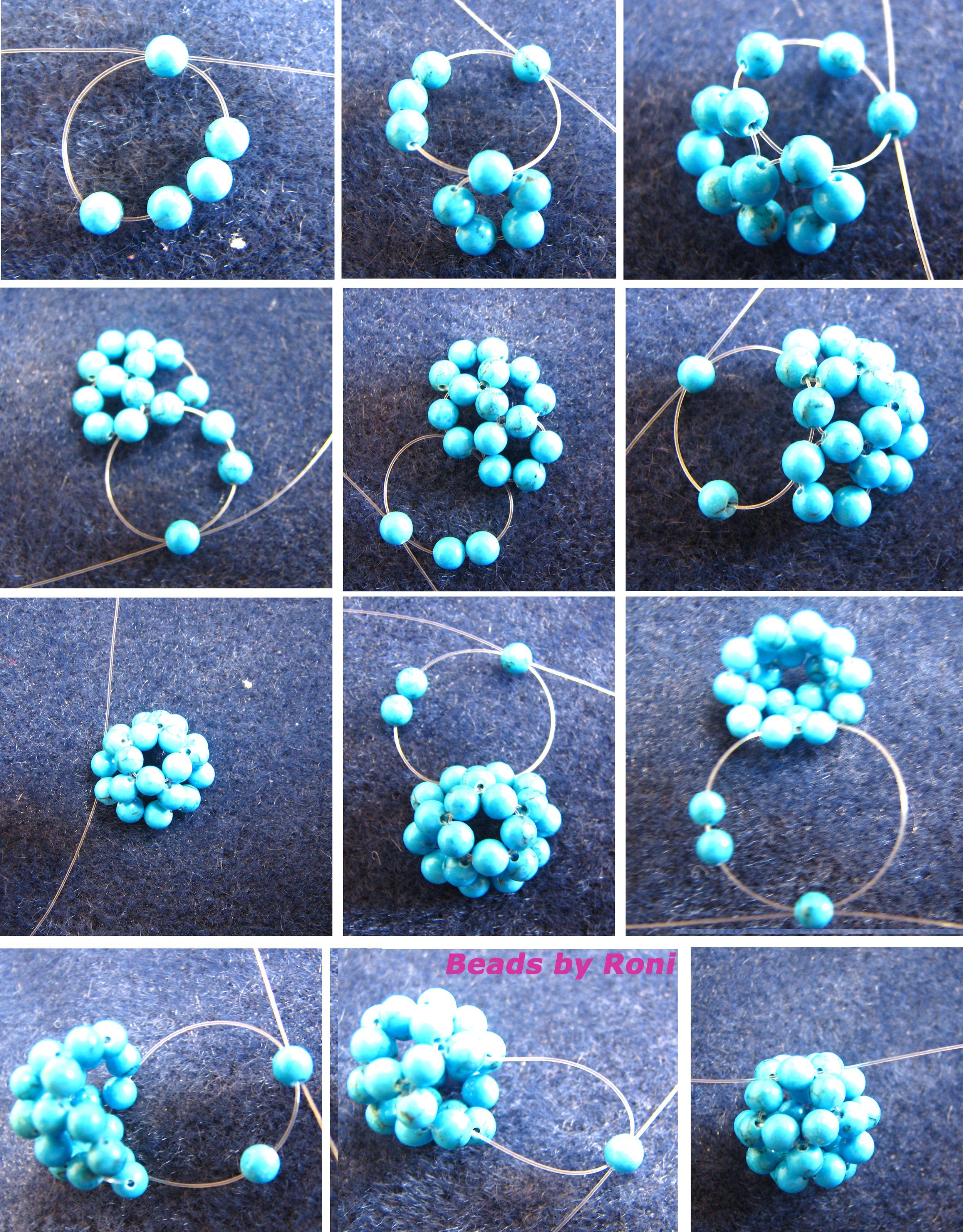 Beaded ball tutorial seed bead tutorial beading