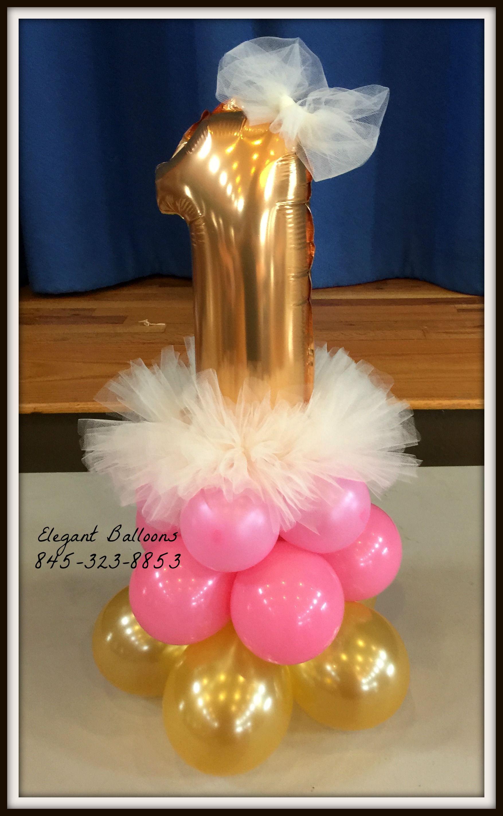Princess Balloon Decoration 1st Birthday Princess Balloon Centerpieces Partywithballoons