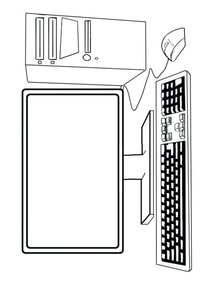 Computer Coloring Pages Pdf