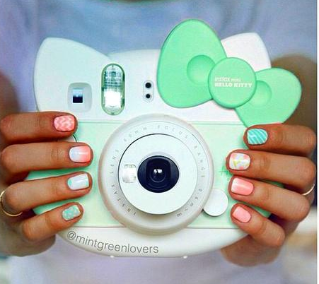Mint Green Hello Kitty Instax Camera I Wish They Had A Baby Blue One More