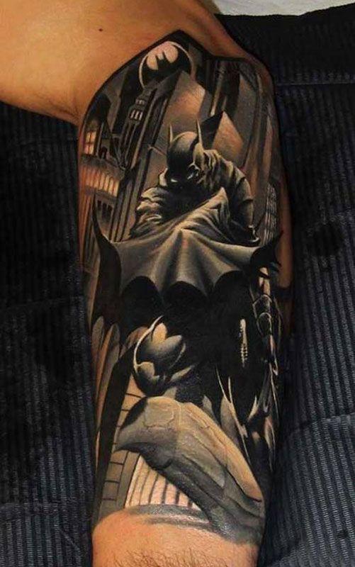 Best Batman Tattoos In The World The Best Batman Tattoos Batman Tattoos The Best Batman Tattoos Video The Bes Batman Tattoo Comic Tattoo Half Sleeve Tattoo