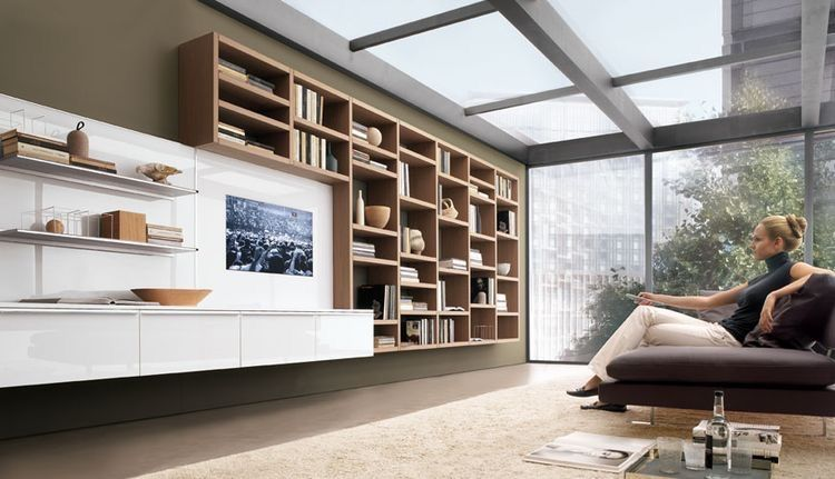 Pin De A Palumbo En Ev Dekoru En 2020 Diseno De Estanteria Muebles Para Living Comedor Muebles Modulares