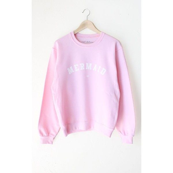 Mermaid IRL Oversized Sweater ❤ liked on Polyvore featuring tops, sweaters, pink sweater, oversized tops, oversized sweaters, pink top and pink oversized sweater