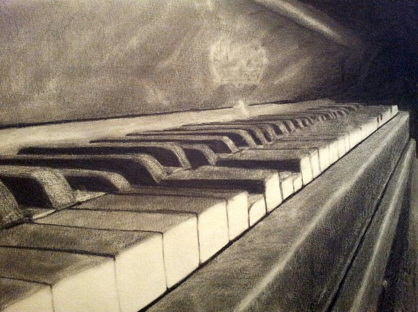 Piano  Used about 5-6 hours, 4-8b pencils, kneaded eraser