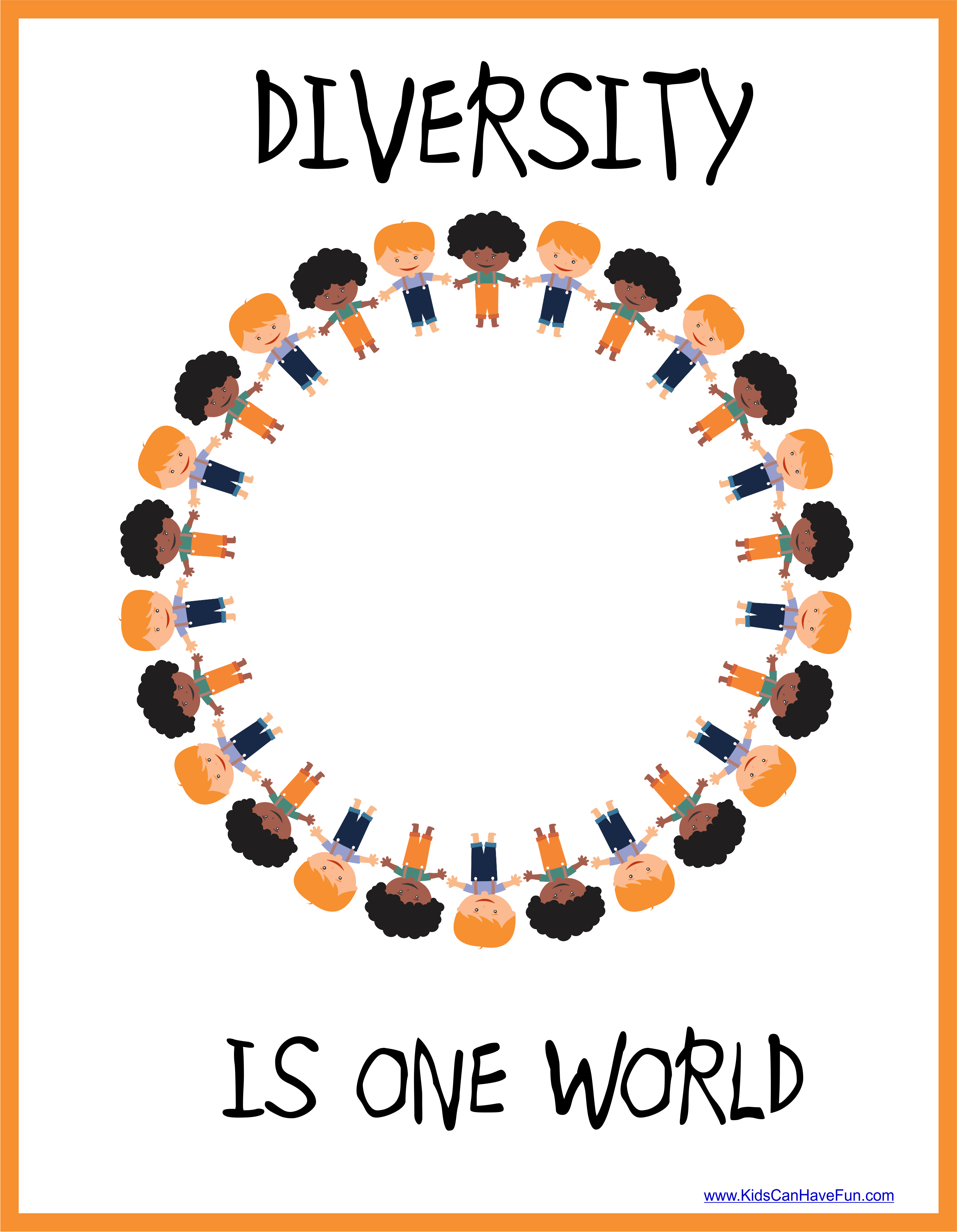 Diversity Is One World Poster In