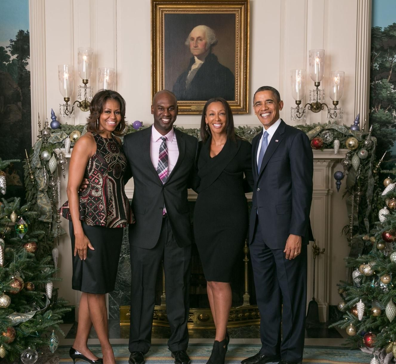 Dallas Dj Dede Mcguire Enjoys Christmas Time Visit With President And First Lady Michelle