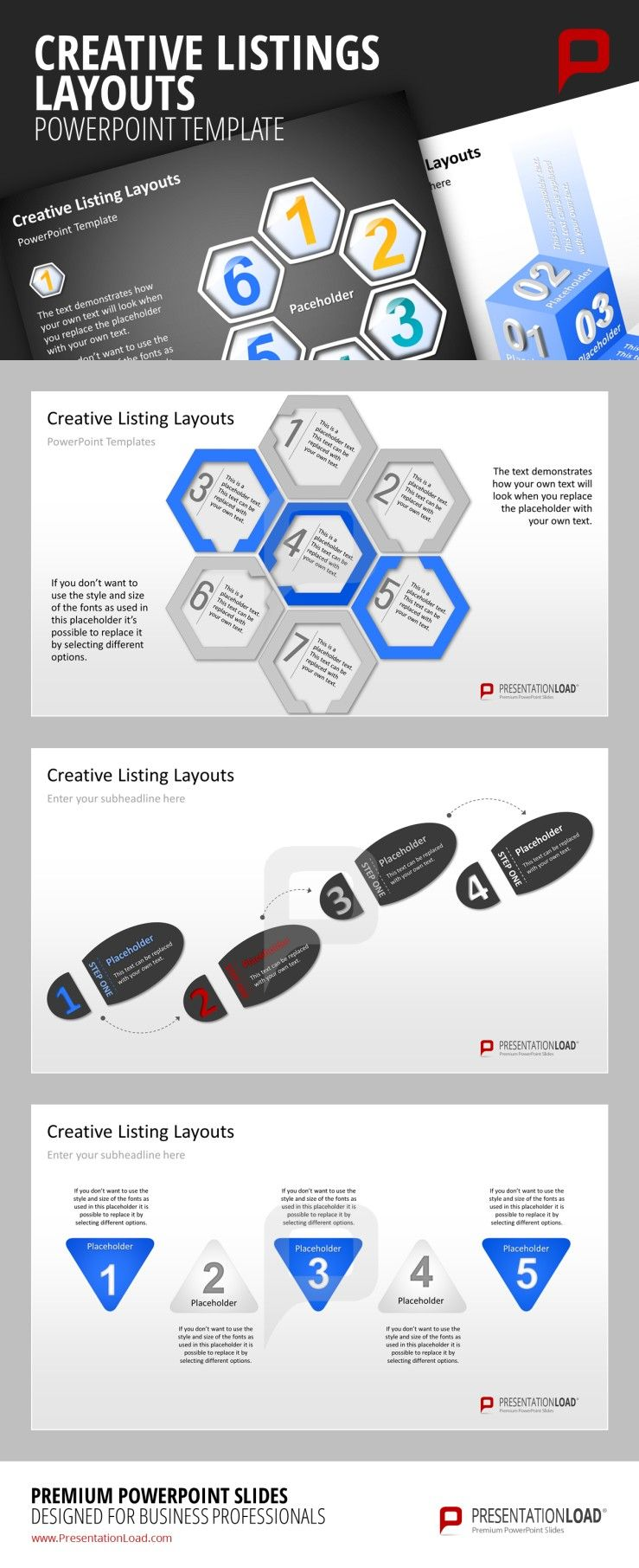 Creative Listings Powerpoint Template Get Creative And List Your