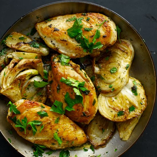 Sauted Chicken Breasts With Fennel And Rosemary Recipe Chicken