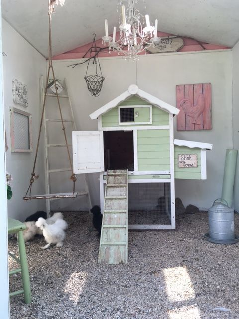 shabby chic coop for our silkies gardening and chickens rh pinterest com