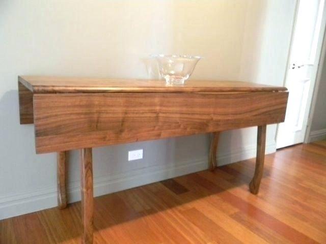 Drop Side Dining Table Down Leaf Room Custom Made Walnut Dual 60 Inch Round