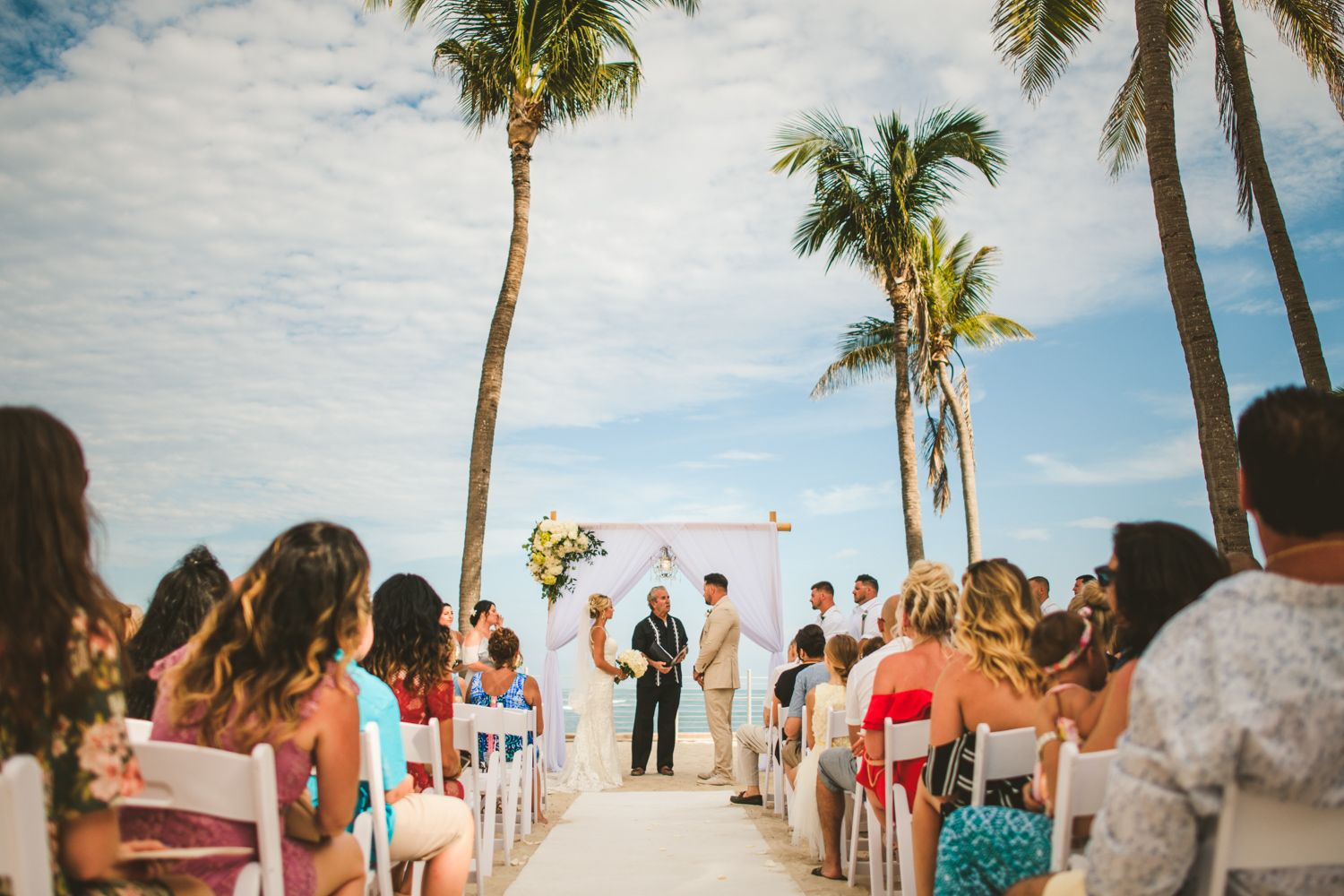 Ceremony At Southernmost Beach Resort Wedding Southernmost Beach