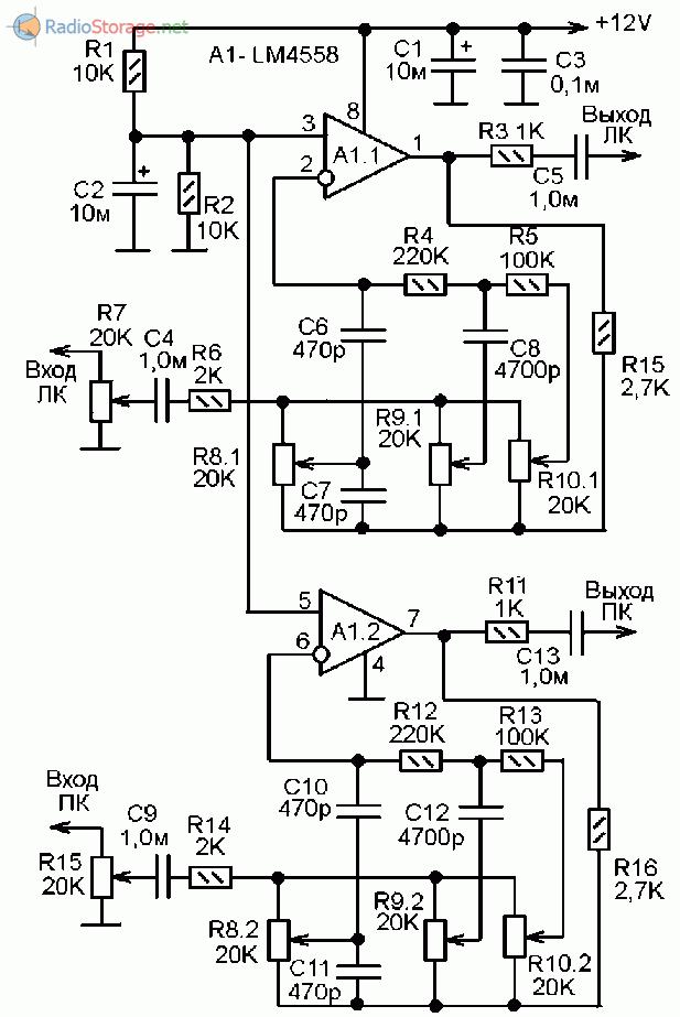 Принципиальная схема предварительного усилителя фото 540